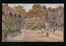 Isle of Wight Shanklin Artist QUINTON 1932 Salmon #1085 PPC
