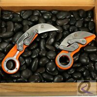 """Folding Karambit Stainless Knife composite Build 2 1/2"""" Blade fast shipping"""