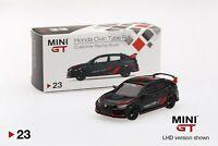 TSM-Model Mini GT #23 1/64 Honda Civic Type R FK8 Customer Racing Study Diecast