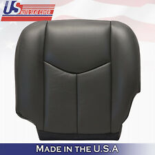 2003 2004 2005 2006 2007 Gmc Sierra Driver Bottom Leather Seat Cover Dark Gray
