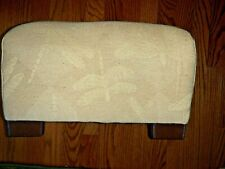 "Antique Dragonfly Fabric Plush Foot Stool Rest Pale Yellow 8.5"" X 12"" ❤️tw4j1"