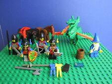 Genuine Lego Castillo Dragón Caballeros Minifigure Set Vintage asistente Caballo 63J