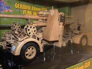 1/18 German 88mm Flak 36/37 Gun, Afrika Korps 21st Century Toys Ultimated XD