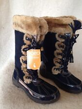 Sporto Millie SIZE 7M Navy Blue Suede Lace-up Winter Snow Boot-BRAND NEW IN BOX