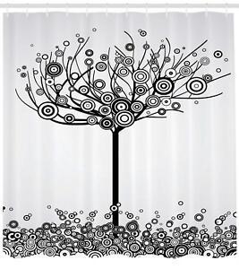 Tree of Life Shower Curtain Fabric Bathroom Decor Set with Hooks 4 Sizes