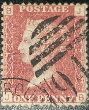 Duzik: Gb Qv Sg43 1d red Plate194 J-B used stamp (No403)*