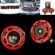2X Universal Motorcycle Motorbike Horn Compact Electric Loud 139DB 12V Car Truck