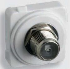 Legrand E-MEC F TO F CONNECTION TYPE TV OUTLET EMFFFOXWE, 75Ohm 2.4GHz WHITE