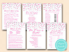 Print Yourself Pink and Silver Bridal Shower Game Pack Printable BS179