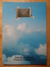 ROLLS ROYCE Motors Precision Components Division 1978 brochure - Aerospace etc
