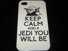 Keep Calm Hard Cover Case for iPhone 4  4s Yoda Keep Calm and a Jedi You Will Be