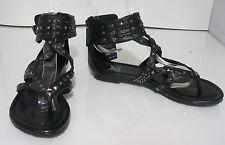 Summer new blacks silver studs NEW WOMEN FASHION Gladiator sandals SIZE  7.5