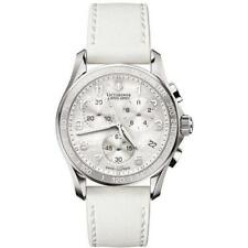 Victorinox Swiss Army Women's Chrono Classic white leather watch 241256
