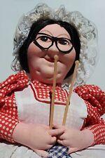 VTG RUSSIAN TEA COZY Cosy DOLL TEAPOT HANDPAINTED Granny Nana Grandma knitting