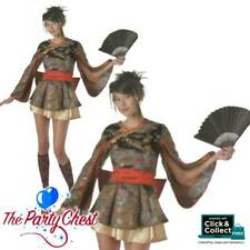 ENCHANTING GEISHA HOTTIE TOTTIE COSTUME Sexy Ladies Japanese Fancy Dress Outfit