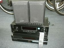Vintage Sony 5 disc CD changer Amplifier Speaker Set Works Perfect Looks Great