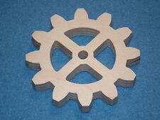 Holz Zahnrad 12 Zähne 9 mm dick  6,8 cm gro�Ÿ Birke Sperrholz Kreuz Steampunk
