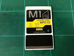 KORG M1 PROGRAM CARD BUNMAY MPC-13 FREE SHIPPING!!