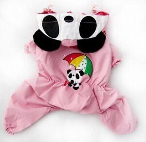 For SMALL Pet Cat Dog Rain Coat Jumpsuit One Piece Waterproof PINK sz XXS - XL