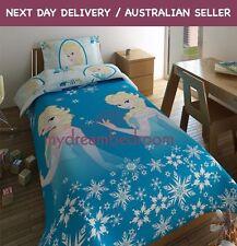 Disney Frozen Elsa Snowflakes Single Quilt Duvet Cover Set
