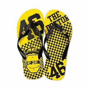 Valentino Rossi VR46 46 The Doctor Flip Flops Dottorone Sandals - Yellow/Black