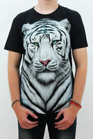 Rock Eagle T-Shirt Beautiful White Tiger print 2 sides size XL