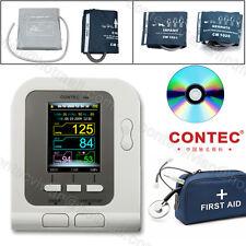 FDA&CE CONTEC08A Digital Blood Pressure Monitor Upper Arm 4 BP Cuffs+PC Software