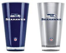 Seattle Seahawks Tumblers - Set of 2 20oz Glass [NEW] Tumbler Coffee Cup Mug