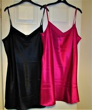 2 x George Satin Nightdress one pink one black 18 BNWOT