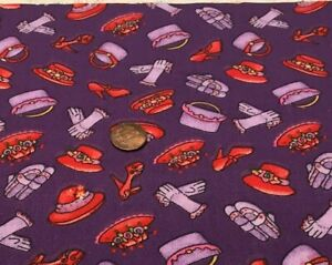 Red Hat Society Accessories*Tossed ALLOVER Purple* Marcus Brothers *100% Cotton