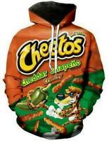 Fashion Cheetos Funny 3D print Hoodie Men Women Sweatshirt Jacket Pullover Top