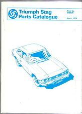Triumph Stag Parts Catalogue 1979 No. 519579 quality REPRINT by Brooklands Books