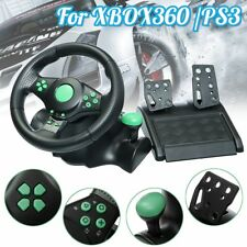 Gaming Vibration Racing Steering Wheel and Pedals For XBOX360 / PS3 / PS2 / PC.