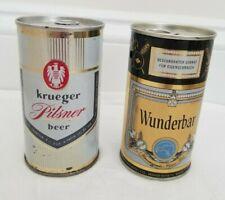 Krueger by (Falstaff) & Wunderbar by Minneapolis Pilsner Beer non zip Tab Cans