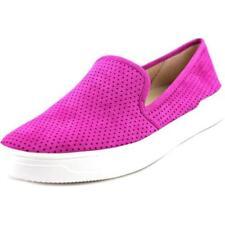 Zapatos planos de mujer mocasines de ante color principal rosa