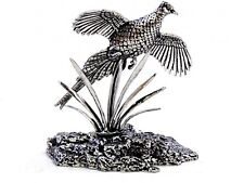 Rising Pheasant Finest English Pewter Statuette - Hand Made in England - Boxed