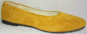 """New """"UNBRANDED"""" MATTE YELLOW SQUARED TOE FLAT 10 M"""