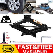 2T Hand Screw Scissor Lift Jack Universal 4410 LB Capacity Car Auto SUV Truck