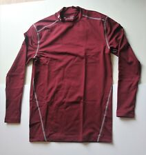 Men's Under Armour ColdGear Armour Compression Mock 3xl Reds Maroon/steel