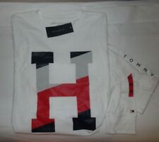 NWT MENS TOMMY HILFIGER L/S T-SHIRT~WHITE~SZ XL
