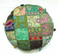 "18"" Indian Vintage Round Cushion Cover Floor Patchwork Pillow Case Cotton Throw"