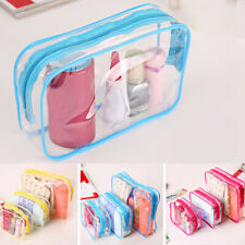 Clear PVC Makeup Storage Bag Cosmetic Toiletry Travel Portable Transparent Pouch