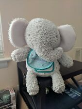 Hallmark Peekaboo Record Messages Elephant Plush Toy 10 Inches Tall (Used)