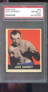 1948 Leaf #38 Jack Sharkey PSA 8 (OC) Graded Boxing Card