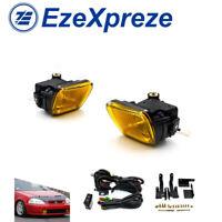 For 96-98 Honda Civic EK 2/3/4 door JDM Yellow Glass Fog Light Kit Square Switch