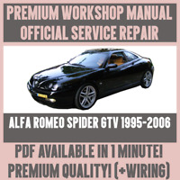 WORKSHOP MANUAL SERVICE & REPAIR GUIDE for ALFA ROMEO SPIDER GTV 1995-2006