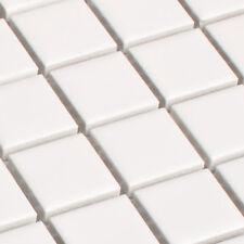 Defected BLANC MOSAÏQUE Carreaux Mosaïque Blanc 2,3 x 2,3 cm mat
