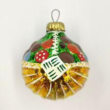 """Christmas Ornament """"Mushroom basket Multi-colored №1"""" vintage Decoration USSR"""
