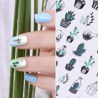 Manicure Decal DIY Gradient Light Water Transfer Cactus Nail Art Stickers