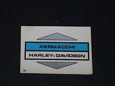 N°36 AERMACCHI HARLEY-DAVIDSON MOTO 2000 PANINI EDITIONS DE LA TOUR 1973